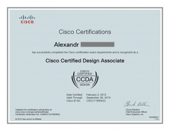 Cisco Certified CCDA