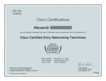 Cisco Certified CCENT