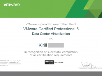 VMware cerified professional 5 data center virtualization