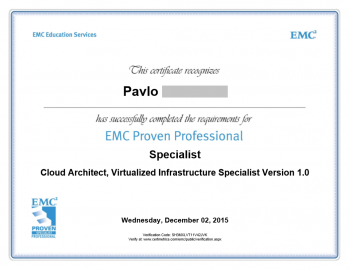 Cloud Architect Virtualized Infrastructure Specialist Certificate