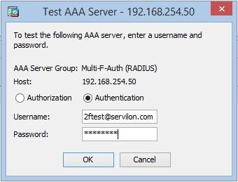 Test AAA server