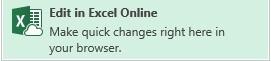 Правка exel online