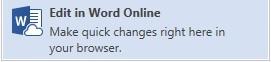 Правка word online