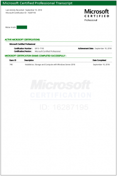 Microsoft certifications