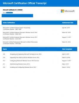 Разработка и развертывание Microsoft Exchange Server 2016