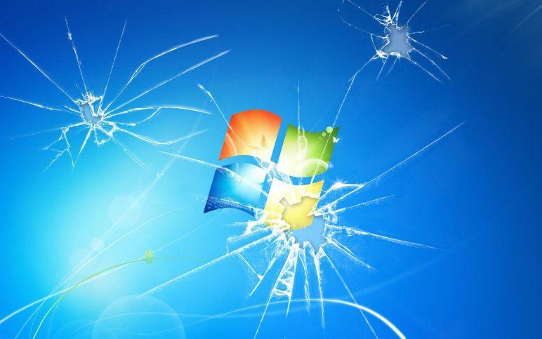 Побитый экран Window 7